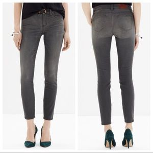 Madewell 26 Gray Skinny Skinny Jeans Boulder Wash